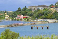 Panorama of Kanoni, Corfu Royalty Free Stock Image