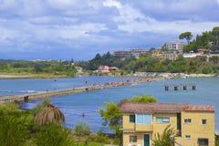 Panorama of Kanoni, Corfu Royalty Free Stock Photography