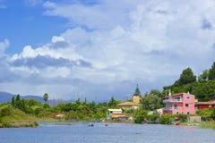 Panorama of Kanoni, Corfu Stock Photography