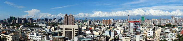 Panorama of Kaohsiung city in Taiwan Royalty Free Stock Photo