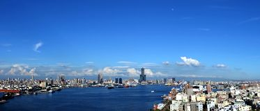 Panorama of Kaohsiung City in Taiwan Royalty Free Stock Photography