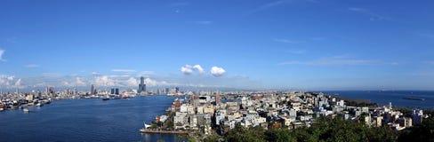 Panorama Kaohsiung port i miasto Zdjęcia Royalty Free