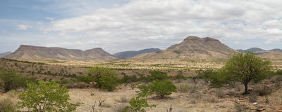 Panorama of the Kaokoland desert Stock Photography