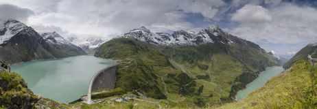 Panorama of Kaprun dams 1, Austria Stock Images