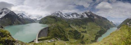 Panorama of Kaprun dams 1, Austria Stock Images