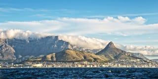 Panorama Kapsztad Południowa Afryka Fotografia Royalty Free