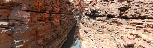 Panorama - Karijini National Park, Western Australia Royalty Free Stock Photos