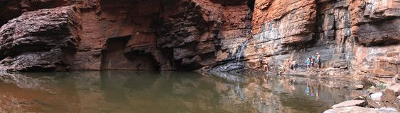 Panorama - Karijini National Park, Western Australia Royalty Free Stock Images