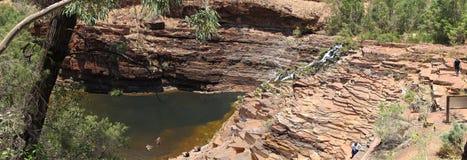 Panorama - Karijini nationalpark, västra Australien Arkivfoto