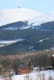 Panorama of Karkonosze Mountains Stock Image