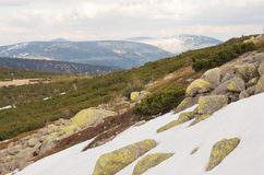 Panorama of the Karkonosze mountains Stock Photo