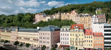 Panorama Karlovy Vary Stock Photography