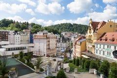 Panorama of the Karlovy Vary Stock Image