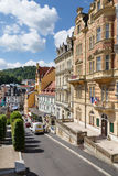 Panorama of the Karlovy Vary Royalty Free Stock Images