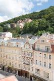 Panorama of the Karlovy Vary Stock Photography