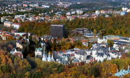 Panorama of Karlovy Vary,Czech republic Royalty Free Stock Images