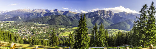 Panorama of Carpathians Royalty Free Stock Photography