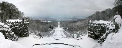 Panorama of Kassel and Park Wilhelmshoehe Stock Photography