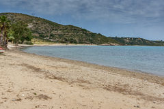 Panorama of Katelios beach in Kefalonia,  Greece Royalty Free Stock Images