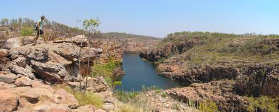 Panorama - Katherine Gorge, Nitmiluk National Park, Northern Territory, Australia Royalty Free Stock Image