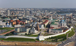 Panorama of Kazan in the air Stock Photography