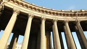 Panorama of the Kazan Cathedral architecture stock video