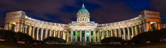 Panorama of the Kazan Cathedral in St. Petersburg. stock photography