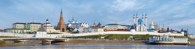 Panorama of the Kazan Kremlin stock image