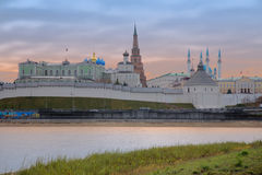Panorama of the Kazan Kremlin from the Kazanka River, Kazan, Rep Stock Photography