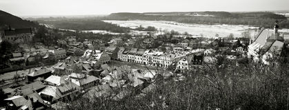 Panorama of Kazimierz Dolny Stock Photography