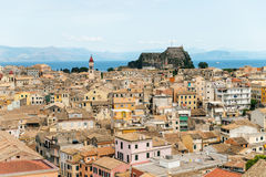 Panorama of the Kerkyra,  Corfu Royalty Free Stock Image