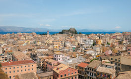 Panorama of the Kerkyra,  Corfu Royalty Free Stock Photo