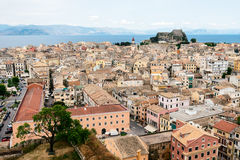 Panorama of the Kerkyra,  Corfu Royalty Free Stock Photos