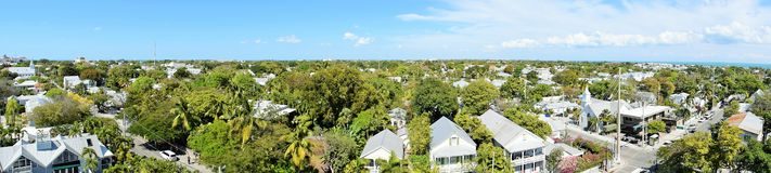 Panorama of Key West. Panorama view of Key West in Florida Keys Royalty Free Stock Photography