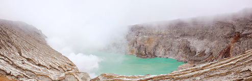 Panorama Khava Ijen Indonesia. Royalty Free Stock Images