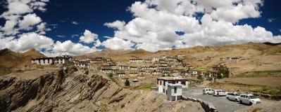 Panorama of Kibber village Stock Photo
