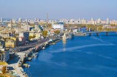 Panorama a Kiev Immagini Stock Libere da Diritti