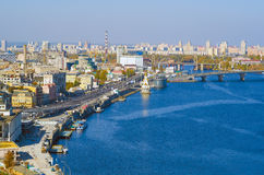 Panorama at  Kiev Royalty Free Stock Images