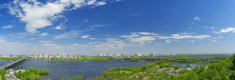 Panorama of Kiev city Stock Photography