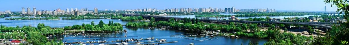 Panorama Kiev, de Oekraïne Royalty-vrije Stock Foto