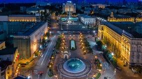 Kiev Evening Khreshchatyk from the height Stock Photos