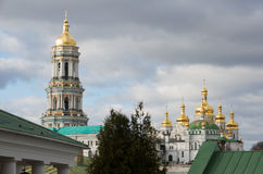 Panorama of Kiev-Pechersk Lavra in autumn. Stock Images