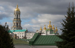 Panorama of Kiev-Pechersk Lavra in autumn. Stock Image