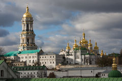 Panorama of Kiev-Pechersk Lavra in autumn. Stock Photography