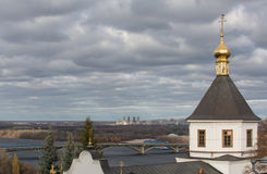 Panorama of Kiev-Pechersk Lavra in autumn. Stock Photo