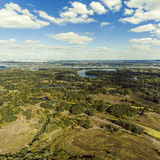 Panorama of Kiev suburb from above. Aerial view. Royalty Free Stock Image
