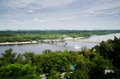 Panorama of Kiev Ukraine. Panoramic picture taken from the left side of the Dnepr Stock Photos