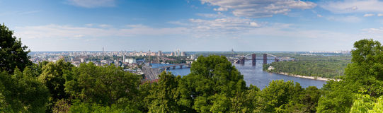Panorama of Kiev, Ukraine. Royalty Free Stock Photography