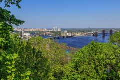 Panorama of Kiev, Ukraine. Royalty Free Stock Photo