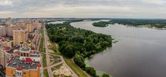 Panorama Kiew Lizenzfreies Stockfoto